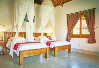 THREE MONKEY VILLAS TWIN BEDROOM THREE MONKEY VILLAS ULUWATU SURF ACCOMMODATION
