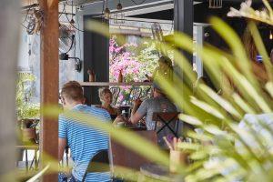 cafe scene in uluwatu bali near three monkeys villas